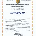 Autorizatie pentru calificarea in meseria de Coafor