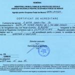 Certificat de acreditare pt oferirea de servicii de informare si consiliere