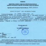 Certificat de acreditare pt oferirea de servicii de mediere
