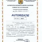 Autorizatie pentru perfectionarea in meseria de Instructor / Preparator formare